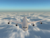 Speed above the clouds Royalty Free Stock Image