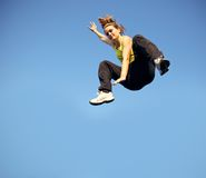 Speed And Agility In Parkour Royalty Free Stock Image