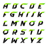 Speed alphabet black and green letters creative Royalty Free Stock Photos