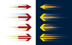 Speed arrows (vector). Separate shapes. Global colors. Editable easily Stock Photography