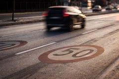 Speed begränsar 50 Royaltyfri Bild