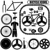 Speed bike icons Stock Images