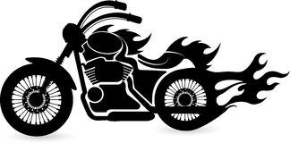 Speed bike logo Royalty Free Stock Image