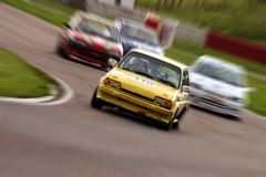 Speed blur. Youngsters racing Royalty Free Stock Image