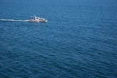 Speed boat. Sea walk on a speed boat Royalty Free Stock Photography
