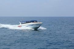 Speed boat. April 8, 2014 scenic speedboats takes visitors around Koh Tao, Surat Thani, Thailand Stock Image