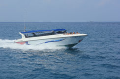 Speed boat. April 8, 2014 scenic speedboats takes visitors around Koh Tao, Surat Thani, Thailand Royalty Free Stock Photography
