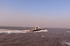 Speed boat in Arabian Sea Royalty Free Stock Photography
