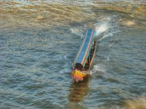 Speed boat in Chaophaya River. Bangkok, Thailand Royalty Free Stock Photography