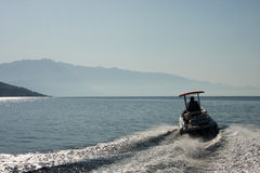 The speed boat Royalty Free Stock Photo