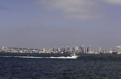 City of San Diego,California bay and boats Stock Photography