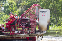 Speed boat cruising on the Maracaibo river, Venezuela Royalty Free Stock Photography