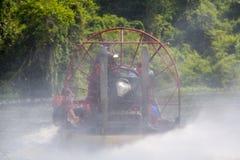 Speed boat cruising on the Maracaibo river, Venezuela Royalty Free Stock Photo
