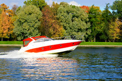 Speed boat fast and furious Royalty Free Stock Photo