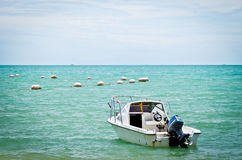 Speed boat   and floats Royalty Free Stock Photos