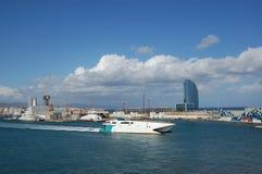 Speed Boat and Hotel Vela Royalty Free Stock Image