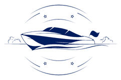 Speed boat icon. Speed boat yacht vector icon Royalty Free Stock Photo