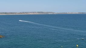 Speed boat - 4K stock video footage