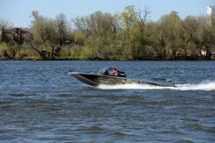 Speed boat Ka-Khem 730 on the river Moscow. Stock Photography
