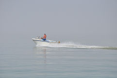 A speed boat on the lake ontario Stock Photography