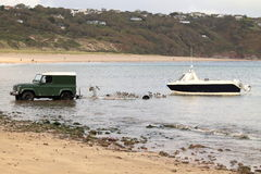 Speed boat launch royalty free stock images