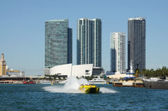 Speed boat, Miami Stock Photos