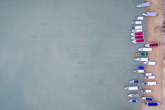 Speed boat parked on the beach at Chalong bay, Phuket province, Stock Images