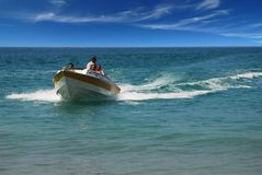 Speed Boat Ride Stock Photography