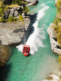 Speed Boat Ride, Queenstown, New Zealand Royalty Free Stock Image