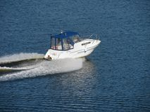 Speed boat on river Royalty Free Stock Photos