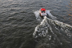 Speed Boat on a River Stock Images