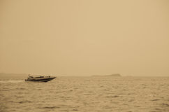 Speed boat sailing Royalty Free Stock Photo