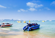 Speed boat in the sea Stock Photo