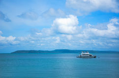 Speed boat in  the sea. Speed boat in the sea in the nice weather day in Thailand Stock Image