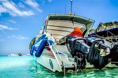 Speed boat in the sea. Prepare to Stock Photo