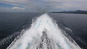 Speed boat. At the see stock footage