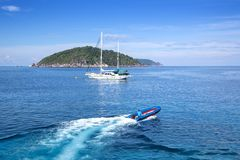 Speed Boat at Similan National Park Thailand Royalty Free Stock Images