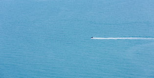 Speed Boat surf long foam Royalty Free Stock Images