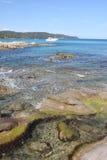 Speed boat in the Tasmanian Sea Stock Photo