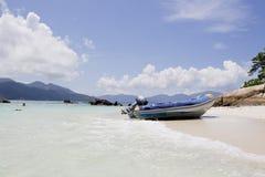 Speed boat in Thailand Beach, Lipe island Stock Photo