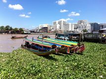 Transportation in Bangkok: speedboat Royalty Free Stock Photos