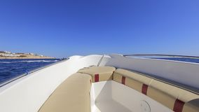 Speed boat stock footage