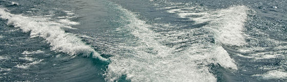 Speed boat wake Stock Photo