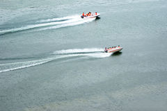 Speed boat in the water Royalty Free Stock Photos