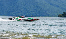 Speed boat at XCat World Offshore Championship Royalty Free Stock Photography