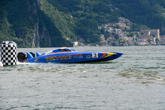 Speed boat at XCat World Offshore Championship Royalty Free Stock Images