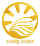 Speed boat or yacht circle design Royalty Free Stock Photo