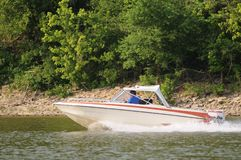 Speed Boating Royalty Free Stock Images