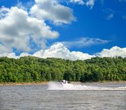 Speed Boating In Kentucky Stock Photos