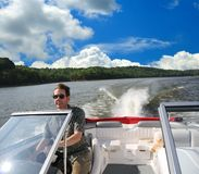 Speed Boating In Kentucky Royalty Free Stock Images